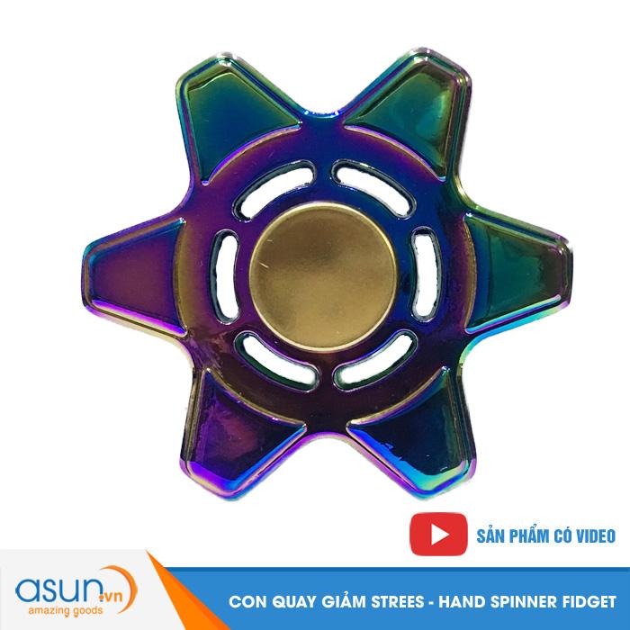 Con Quay Giảm Stress 6 Cánh 7 Màu Mẫu 2 Hand Spinner - Fidget Spinner Hot 2017