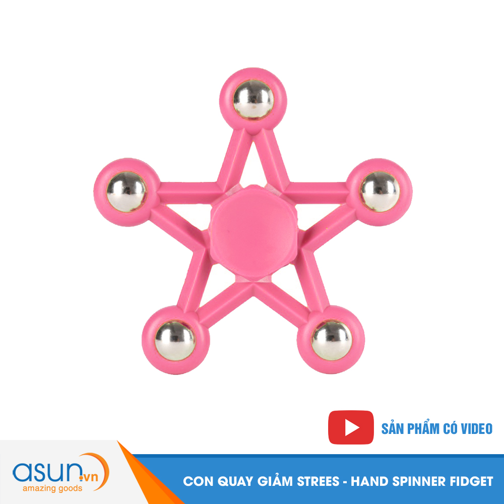 Con Quay Giảm Stress Ngôi Sao 5 Cánh Hand Spinner Hồng - Fidget Spinner Hot 2017