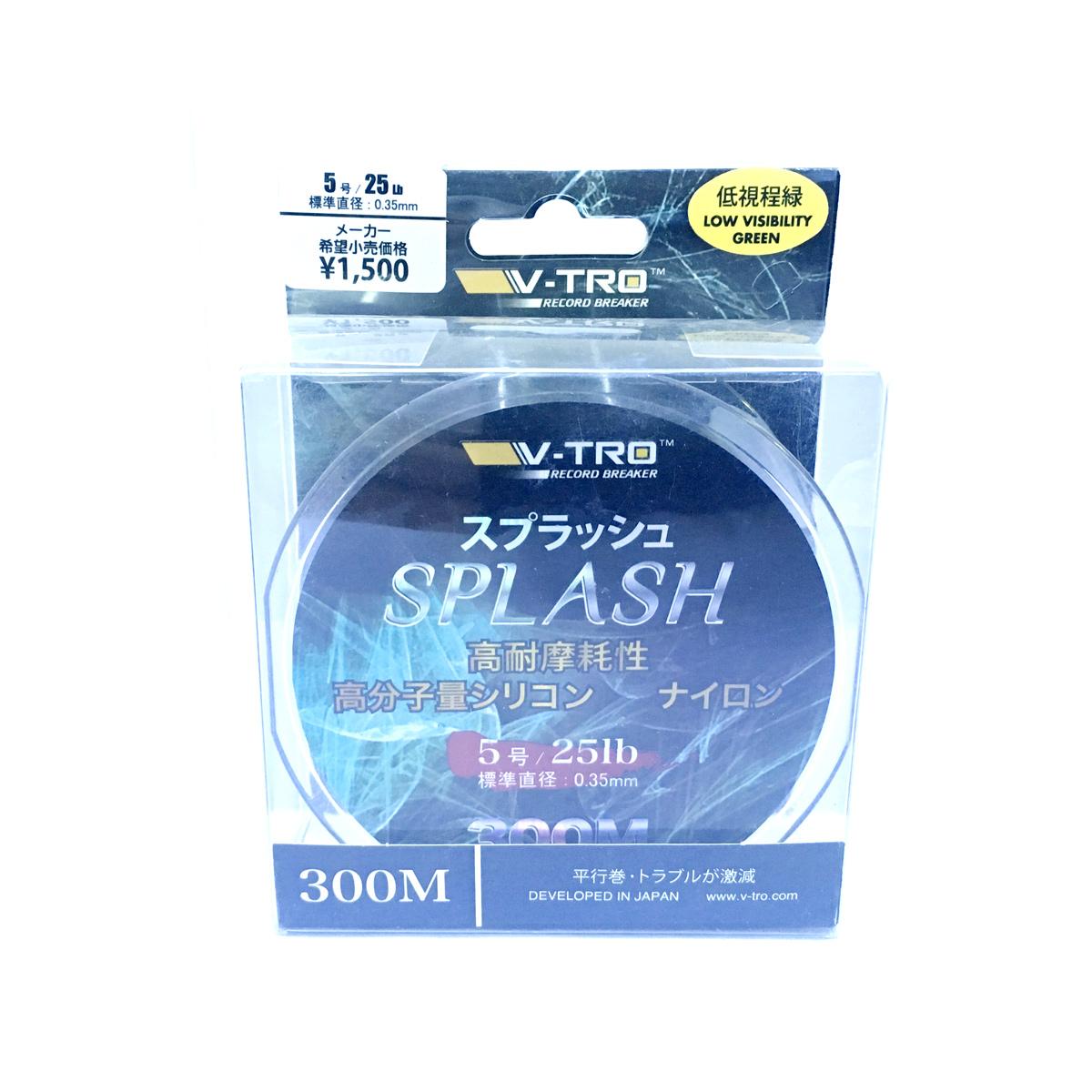 Dây Cước Câu Cá Nhật Bản Vtro Splash Cuộn 300m Xanh Rêu