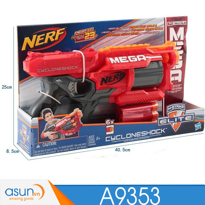 Súng NERF  CYCLONESHOCK  N-STRIKE A9353
