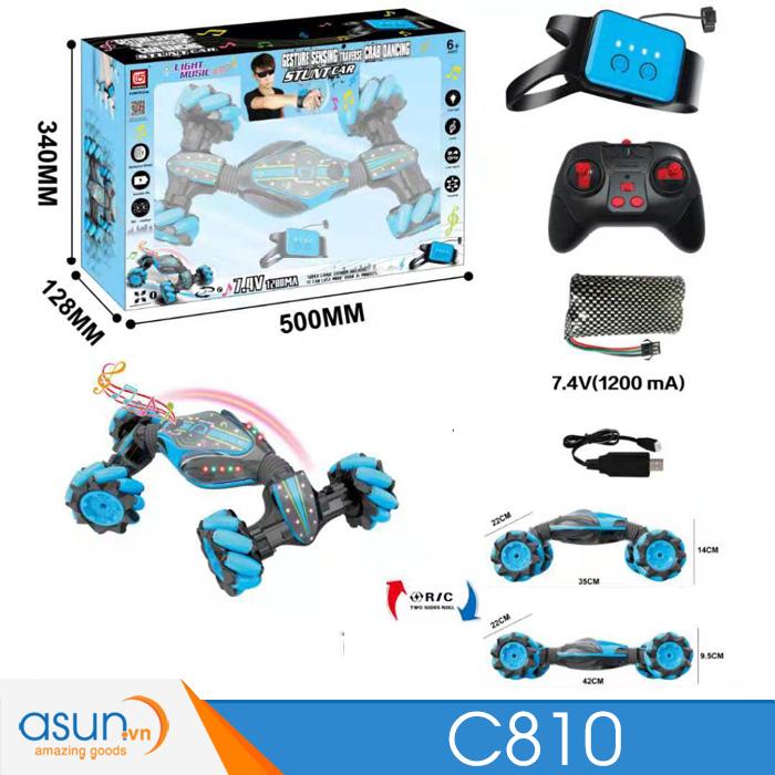 Xe Điều Khiển Địa Hình 4WD 2 Chế Độ Điều Khiển Remote và Bằng Tay 2in1 C810