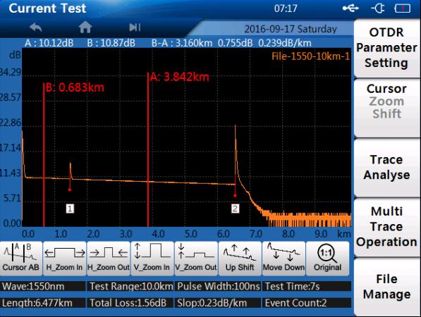 Máy đo OTDR nhỏ gọn TMO300 5.6