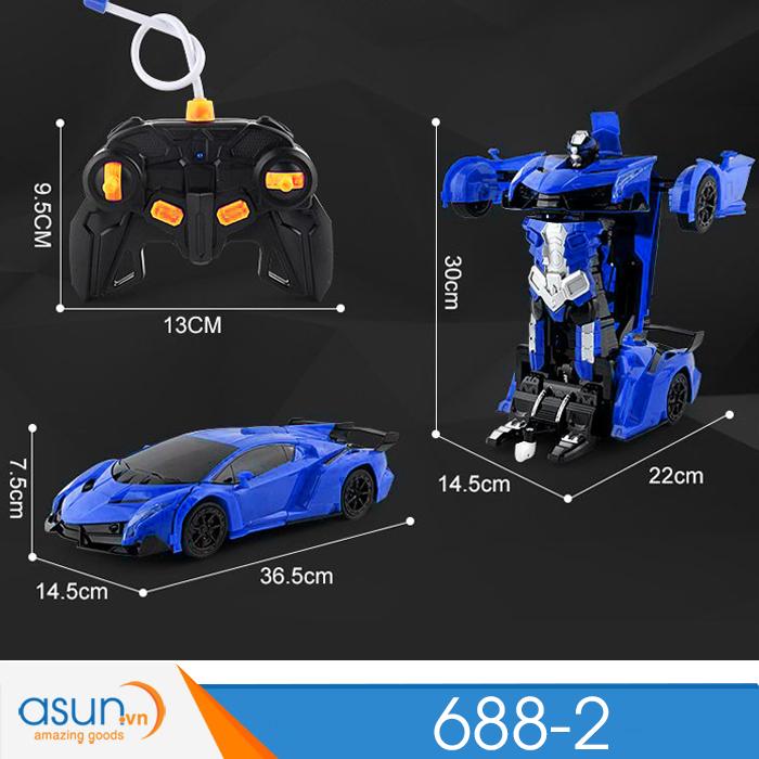 Xe Robot Điều Khiển Biến Hình Lamborghini Cảm Ứng Tay 688-2