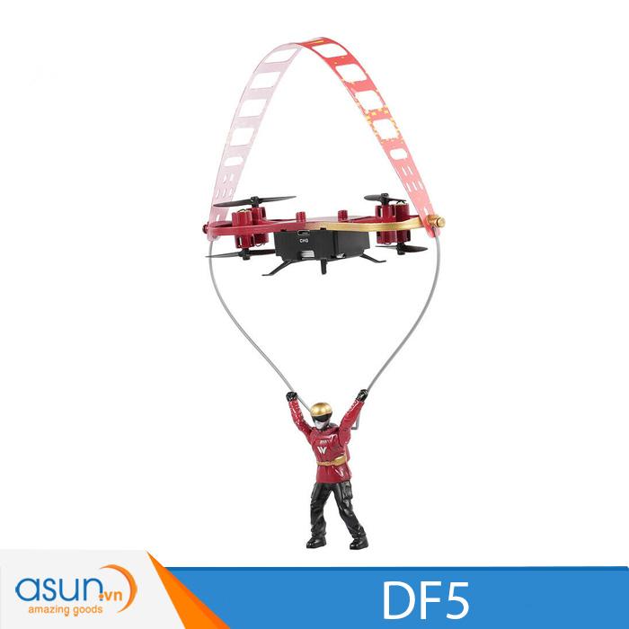 Máy Bay Điều Khiển Từ Xa 2in1 Attop DF5 2.4Ghz Đỏ