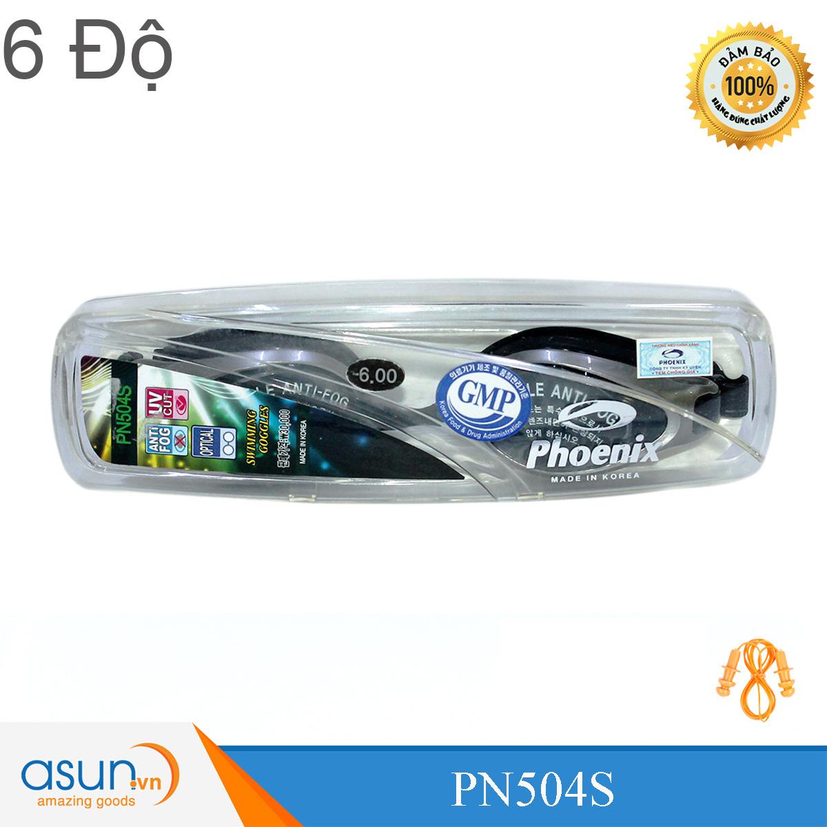 Kính Bơi Cận 2 Độ Chính Hãng Phoenix Hàn Quốc P504  2Diop -P504D2