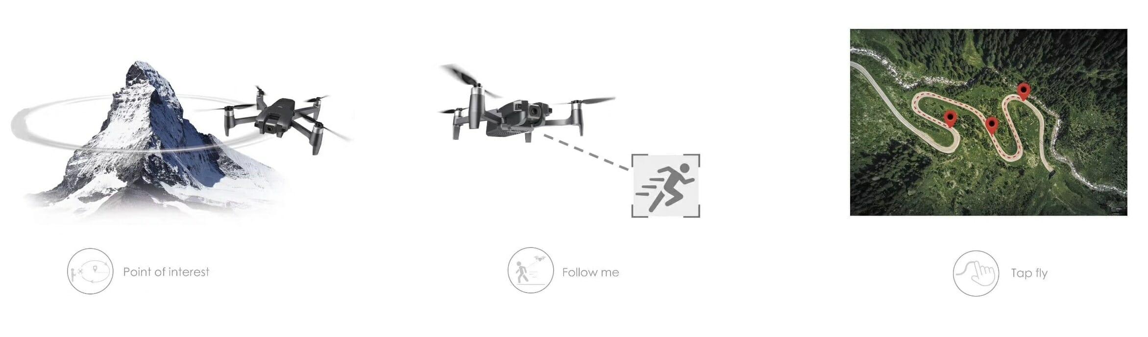 Máy Bay Điều Khiển Từ Xa Flycam MJX MEW4-1 Camera 2K 180 độ Cảm Biến Siêu Âm và Hình Ảnh