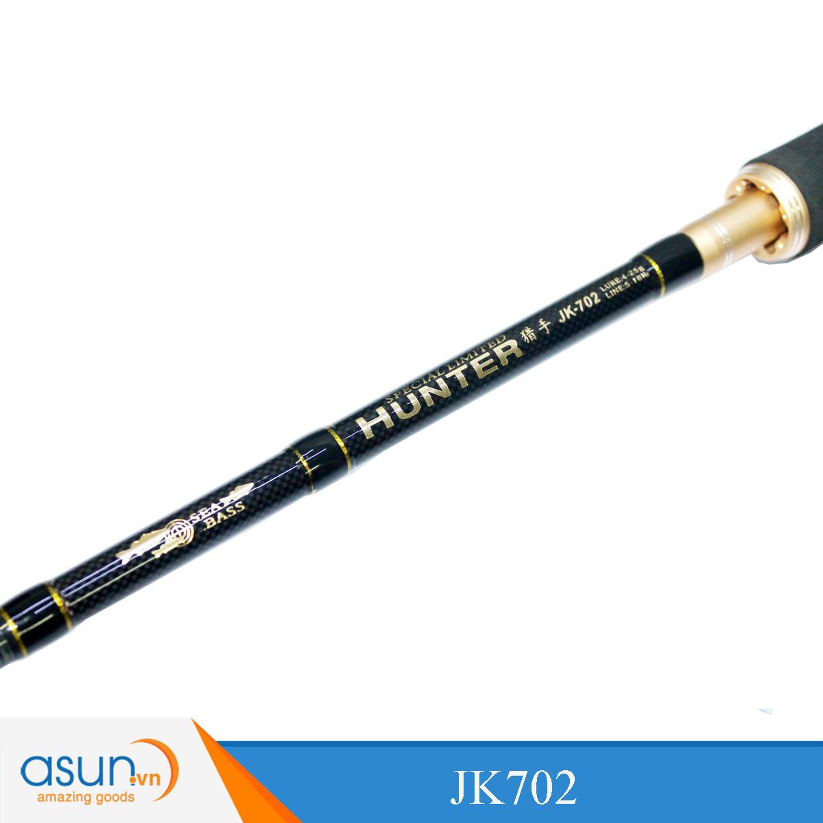 Bộ Combo Cần Ngang Ashino Hunter 2m1 - Máy Ngang Pro Hunter A Dây Bện và Mồi Lure