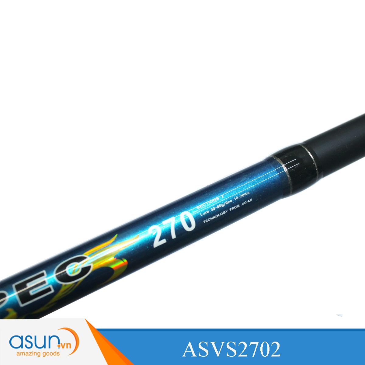 Bộ Combo Cần Câu Ashino VSpec 2m7 Máy Câu HN3000 Dây Cước Nhện - Chì Kèm Lưỡi