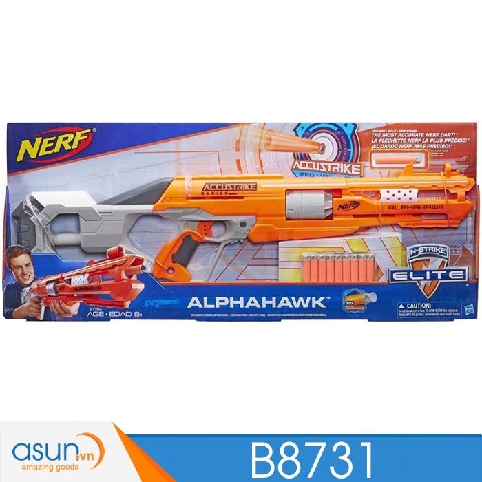 Súng NERF  ACCUSTRIKE SERIES ALPHAHAWK N-STRIKE B8731