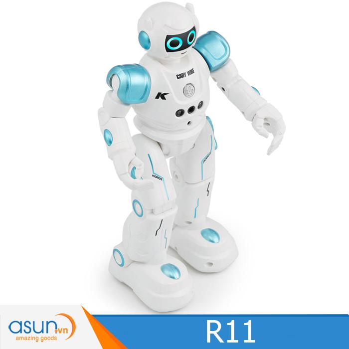 JJRC R11 RC Robot USB Sạc Nhảy Múa Cảm Biến Cử Chỉ Hát Chương Trình Thông Minh Xanh Dương