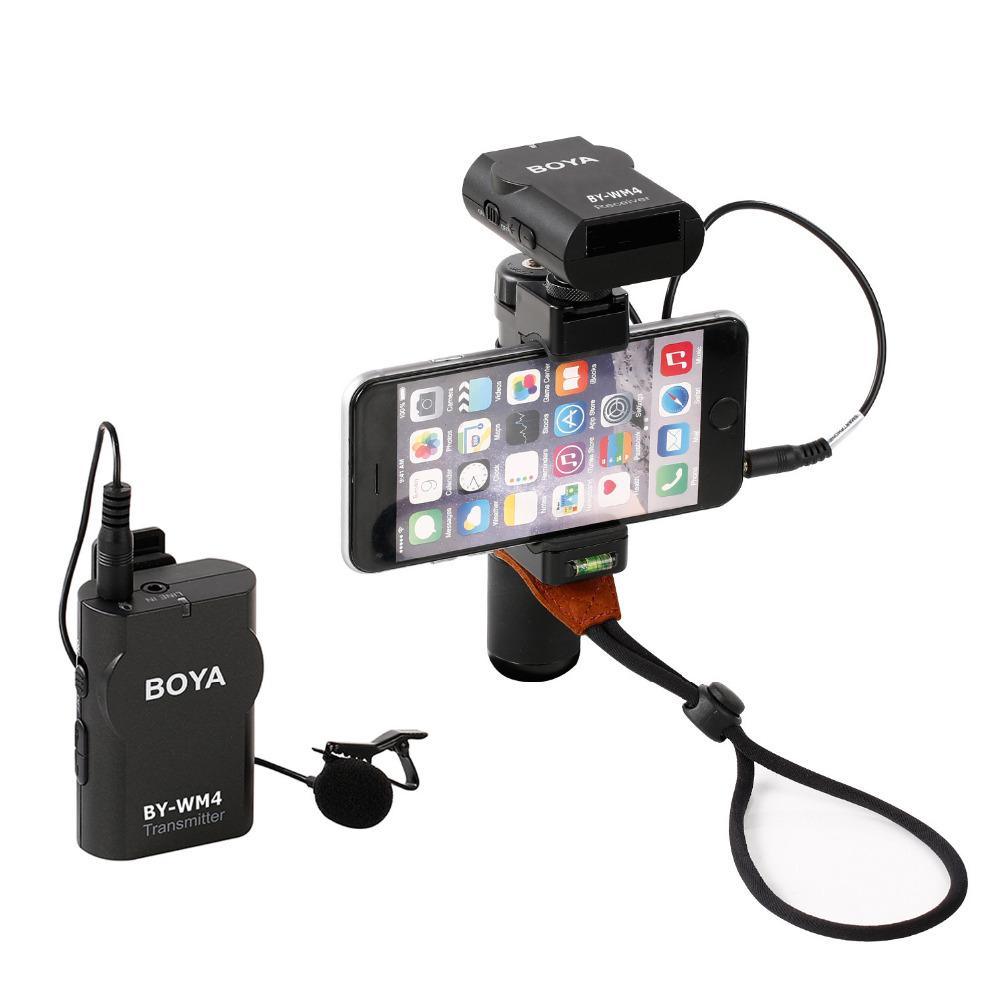 Micro thu âm phỏng vấn kỹ thuật số cài áo Boya BY-WM4 Pro-K1