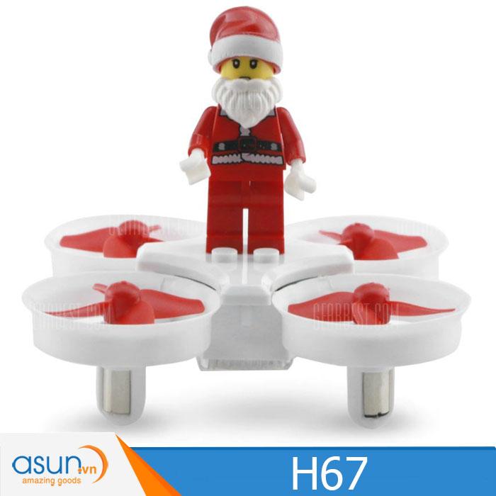 Máy Bay Điều Khiển ông già Noel JJRC H67 Drone Trắng