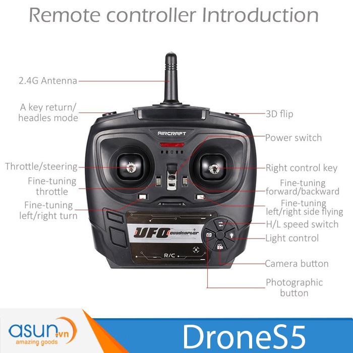 Máy Bay Điều Khiển Từ Xa 4 Cánh Drone S5 Quadcopter Nhào Lộn