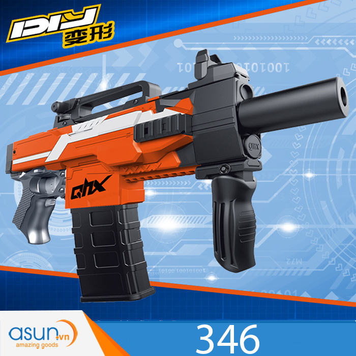 Súng Bắn Đạn Xốp Soft Gun 346 Cam