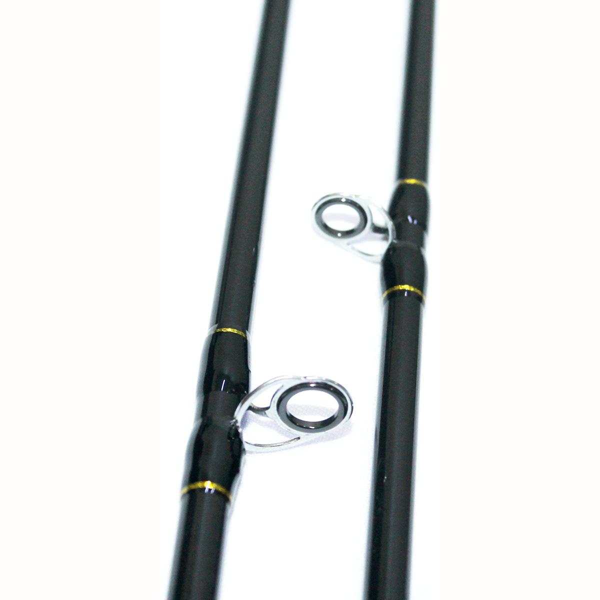 Bộ Combo Cần Ngang Ashino Hunter 2m1 - Máy Ngang Pro Hunter S Dây bện và Mồi