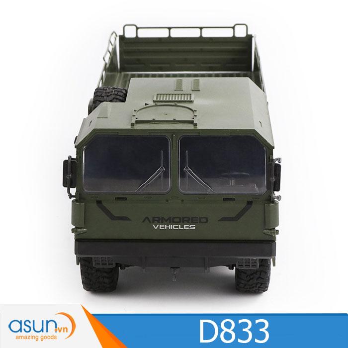 Xe Tải Quân Sự Mỹ Điều Khiển Từ Xa JJRC D833X 6WD 1:16 Xanh