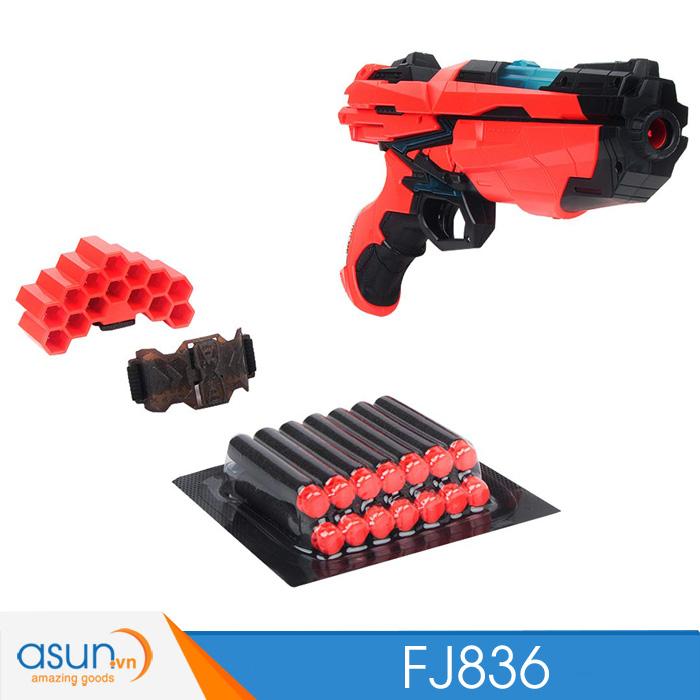 Súng Bắn Đạn Xốp Soft Bullet Gun FJ836 có đèn