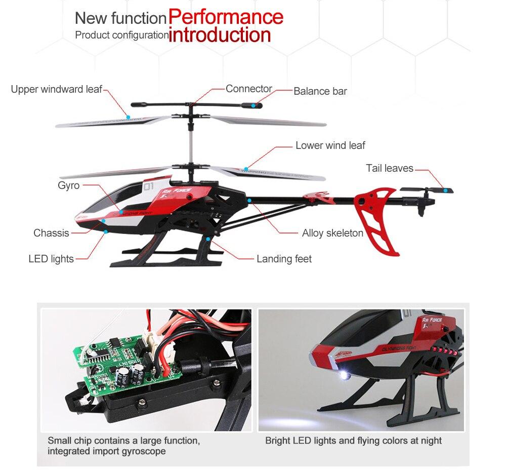 Máy Bay Trực Thằng Điều Khiển Từ Xa YD938 Helicopter 50cm Red