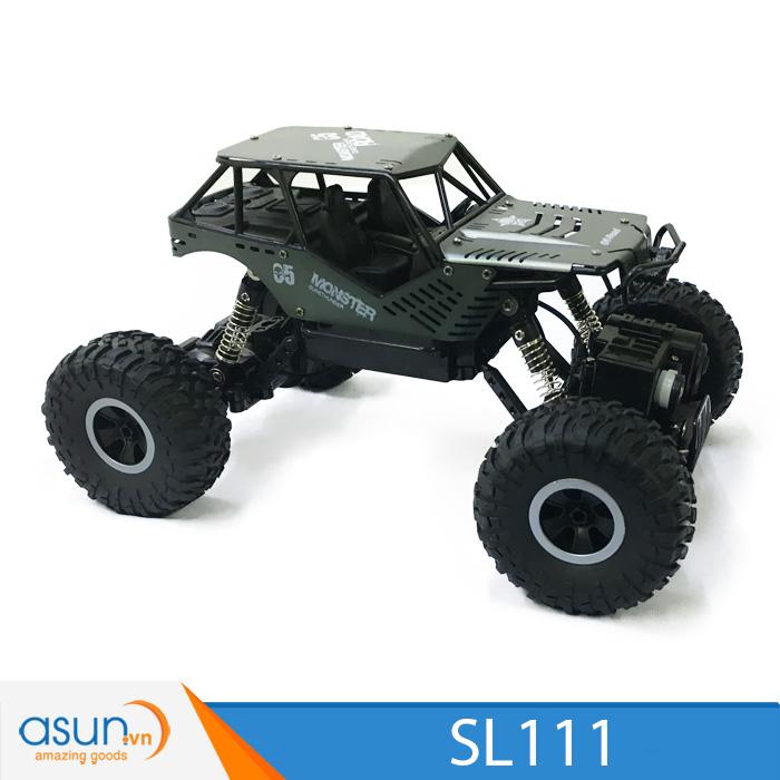 Xe  Điều Khiển Địa Hình Rock Crawler SL111 Monster 4WD Rally Car Vỏ Nhôm