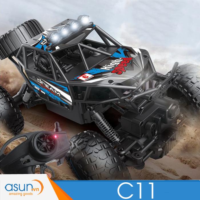 Xe Rock Crawler Điều Khiển Từ Xa C11 1:14 Đèn Led