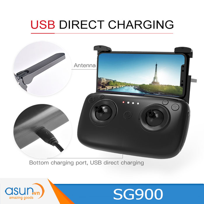 Máy Bay Điều Khiển Gấp Cánh Drone SG900 WIfi Camera 720 Tự Giữ Độ Cao