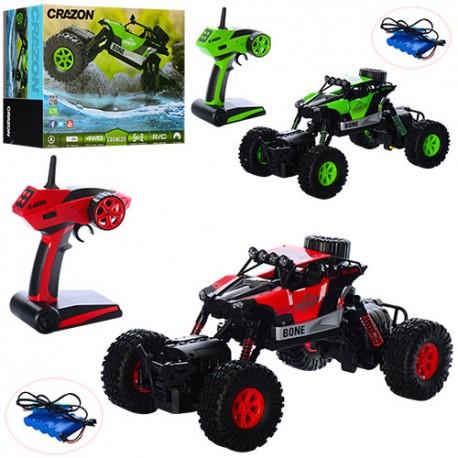 Xe Điều Khiển Chống Nước Rock Crawler JJRC 333-521B 4 chế độ -xanh171602B