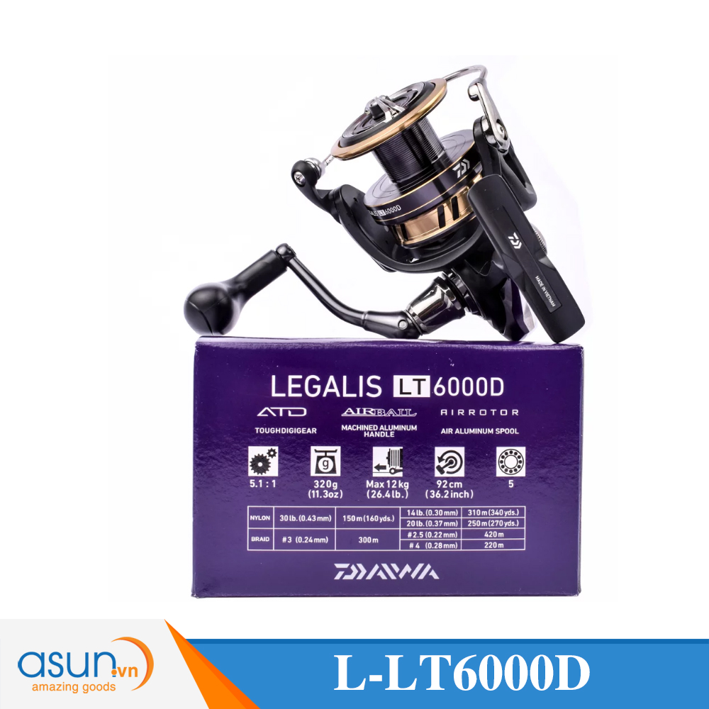 Máy Câu Daiwa Legalis LT6000D 2018 bảo hành 3 tháng
