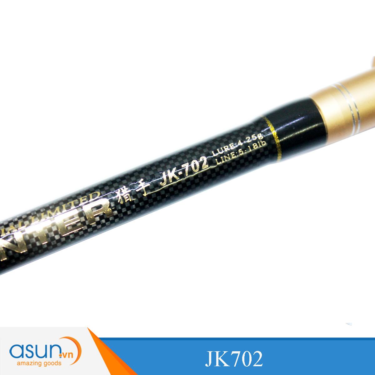 Cần Câu Ngang Hai Khúc Hai Đọt M - MH Ashino Hunter JK702 - 2m1 - Chính Hãng