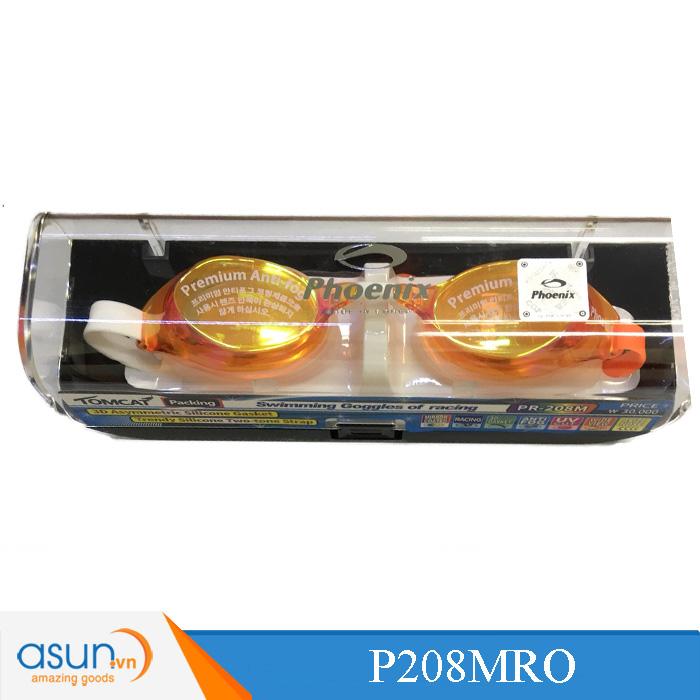 Kính bơi Phoenix chuyên nghiệp màu cam tươi có tráng gương P208MO