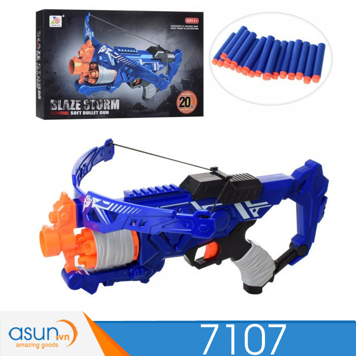Súng Bắn Đạn Xốp Soft Gun Blaze Storm 7107