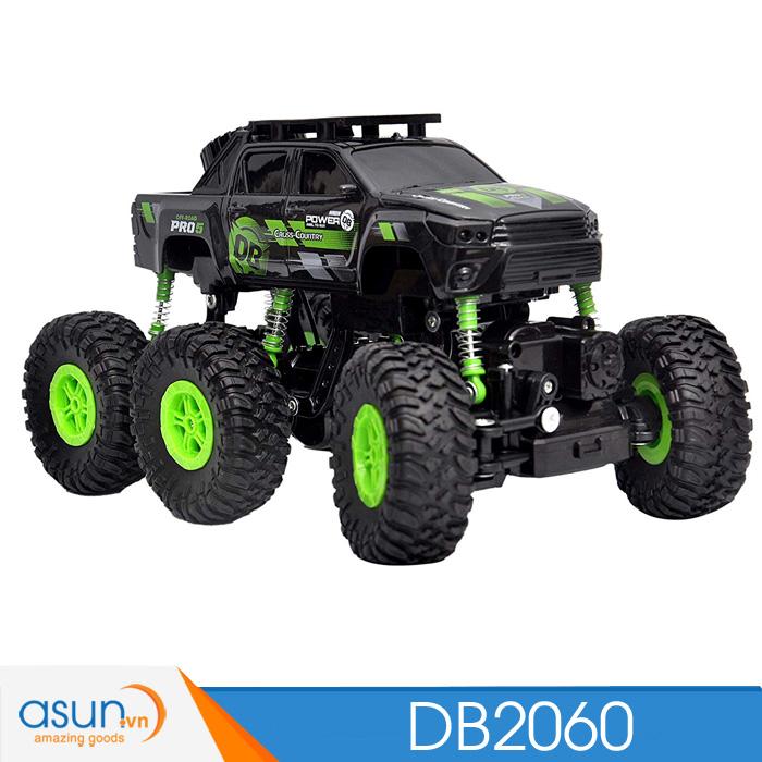 Xe  Điều Khiển Địa Hình Rock Crawler DB2060 6 bánh XANHDB2060G
