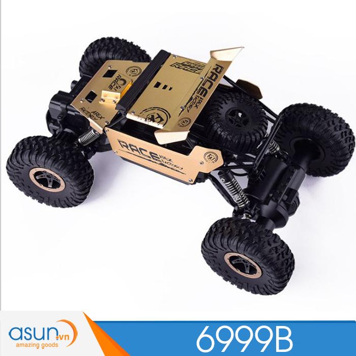 Xe  Điều Khiển Địa Hình Rock Crawler 6999B 4WD Rally Car Vỏ Nhôm Vàng đồng-9118
