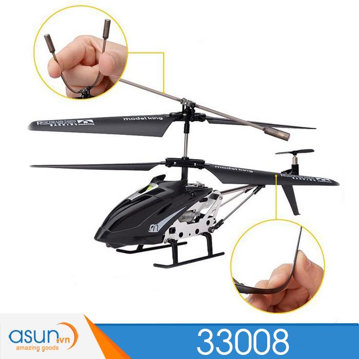 Máy bay trực thăng điều khiển Từ Xa Model King 33008 Trắng