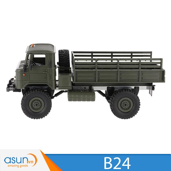 Xe Tải Quân Sự Mỹ Điều Khiển Từ Xa Military WPL B24 4WD 1:16-Màu Xanh Đen quân sư