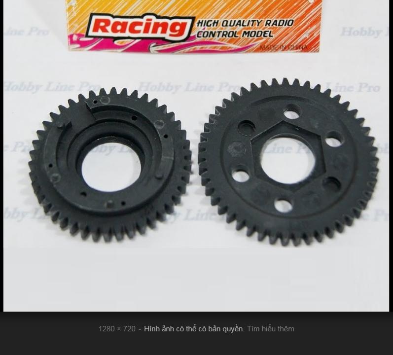 Bánh răng 42T và 47T Xe Xăng Nitro Buggy Điều Khiển FS RAcing FS51208 Pô kim loại