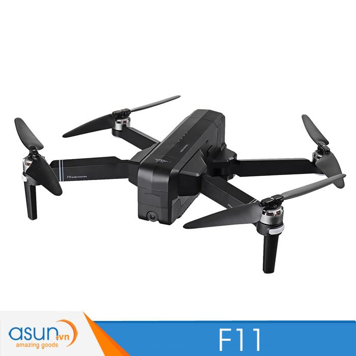 Máy Bay Flycam Sjrc F11 Gps 5G Wifi Fpv Với Camera 1080P 25 Phút Không chổi than bay xa 1200m