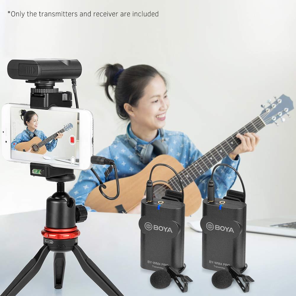 Micro thu âm phỏng vấn kỹ thuật số cài áo Boya BY-WM4 Pro-K2