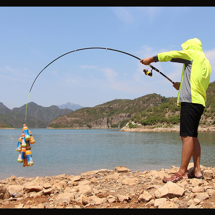 Cần Câu Rút Máy Đứng Jiangjie 2705 - 2m7 Cần Câu Phổ Thông