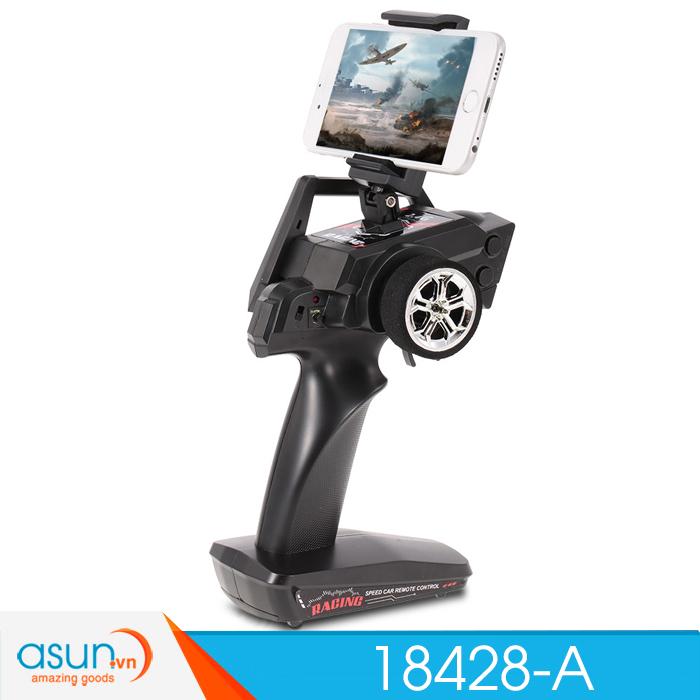 Xe  Điều Khiển Địa Hình Bắn Đạn Rock Crawler Wltoys 18428A quân đội Wifi Camera 1:18
