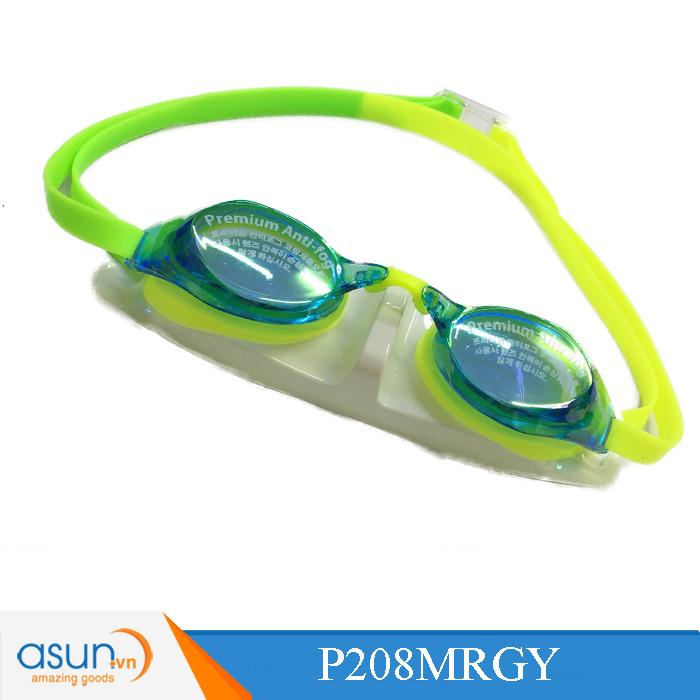 Kính bơi Phoenix chuyên nghiệp màu xanh tươi có tráng gương P208MRGY