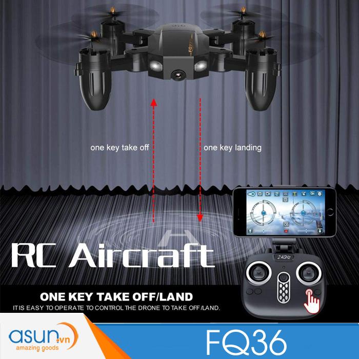 Máy Bay Điều Khiển Gấp Cánh FQ777 FQ36 Drone Wifi Camera 720P