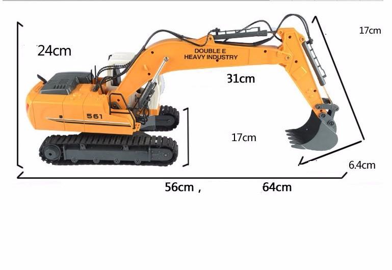Máy xúc điều khiển từ xa E561