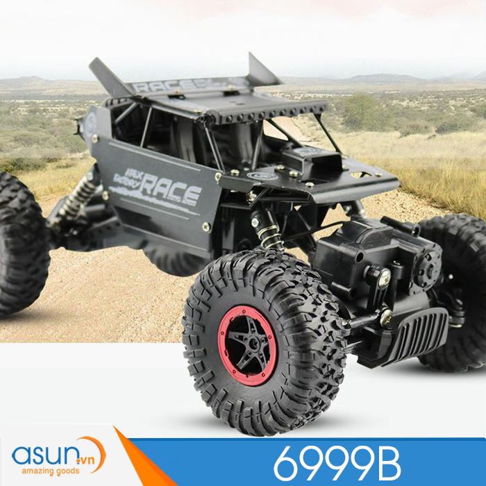 Xe  Điều Khiển Địa Hình Rock Crawler 6999B 4WD Rally Car Vỏ Nhôm Đen-9118