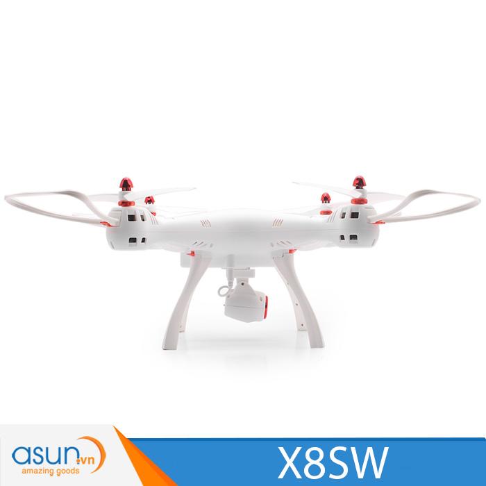 Máy Bay UFO 4 Cánh Điều Khiển Từ Xa Syma X8SW Wifi FPV Quadcopter