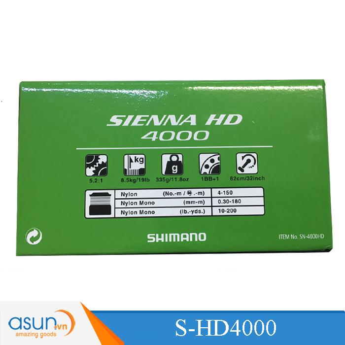 MÁY CÂU CÁ Shimano SIENNA HD 4000 BH 3 Tháng Hot 2018