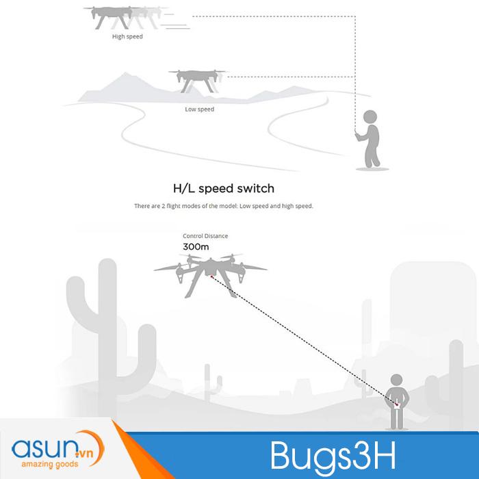 Máy Bay Điều Khiển Từ Xa MJX Bugs 3H Giữ độ cao B3H