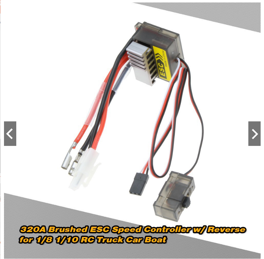 ESC 320A 2~4S LiPo Battery Brushed ESC Electronic Speed Controller With 5.6V/2A BEC loại 1