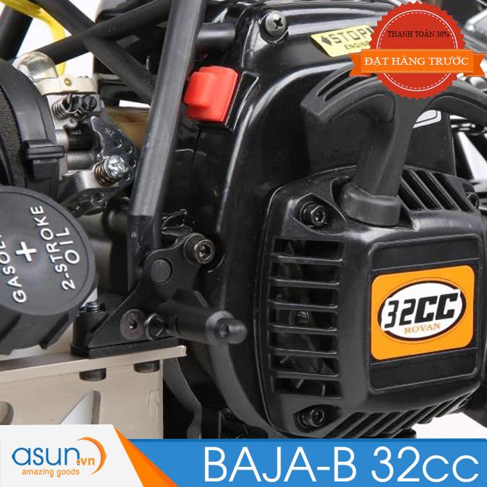 HÀNG ĐẶT TRƯỚC Combo Xe Xăng A92- A95Điều Khiển BAJA-B 32cc 135260 Tỉ lệ 1-5