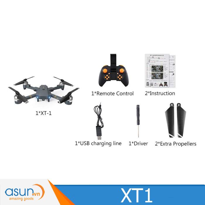 Máy Bay Điều Khiển Gấp Cánh Drone XT1 Tự Giữ Độ Cao