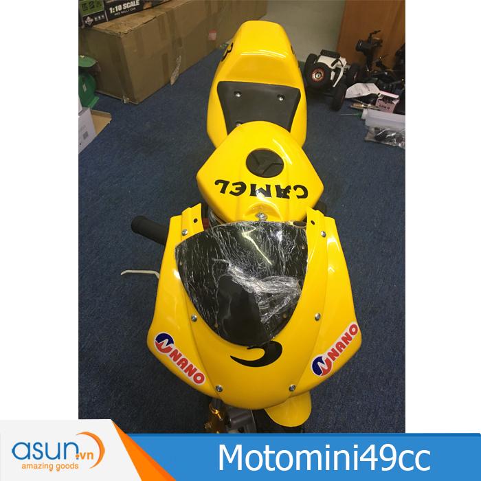 Xe Mô Tô Moto Mini Chạy Xăng Pha Nhớt 49cc